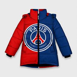 Куртка зимняя для девочки ФК ПСЖ цвета 3D-черный — фото 1