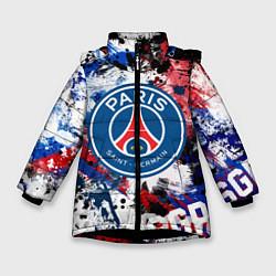 Куртка зимняя для девочки PSG FC цвета 3D-черный — фото 1