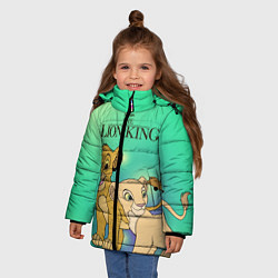 Куртка зимняя для девочки Юные Симба и Нала цвета 3D-черный — фото 2