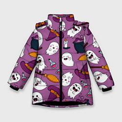 Куртка зимняя для девочки Halloween 2020 цвета 3D-черный — фото 1