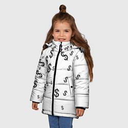 Куртка зимняя для девочки Доллар цвета 3D-черный — фото 2