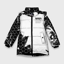 Куртка зимняя для девочки NASA цвета 3D-черный — фото 1