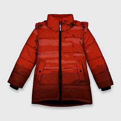 Куртка зимняя для девочки Сакура цвета 3D-черный — фото 1