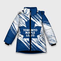 Куртка зимняя для девочки Toronto Maple Leafs, цвета 3D-черный — фото 1
