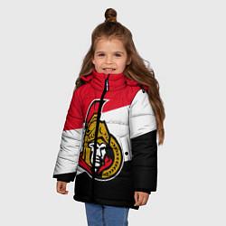 Куртка зимняя для девочки Оттава Сенаторз цвета 3D-черный — фото 2