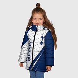 Куртка зимняя для девочки TOTTENHAM HOTSPUR Тоттенхэм цвета 3D-черный — фото 2