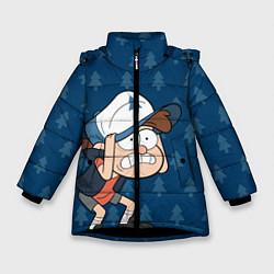 Куртка зимняя для девочки Диппер Пайнс цвета 3D-черный — фото 1