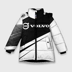 Куртка зимняя для девочки VOLVO Вольво цвета 3D-черный — фото 1