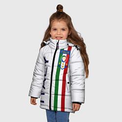 Куртка зимняя для девочки СБОРНАЯ ИТАЛИИ цвета 3D-черный — фото 2