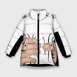 Куртка зимняя для девочки Hand цвета 3D-черный — фото 1