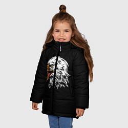 Куртка зимняя для девочки Орёл цвета 3D-черный — фото 2