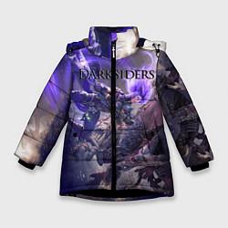 Куртка зимняя для девочки Darksiders цвета 3D-черный — фото 1