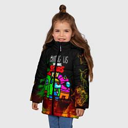 Куртка зимняя для девочки Among Us Brawl StarS цвета 3D-черный — фото 2