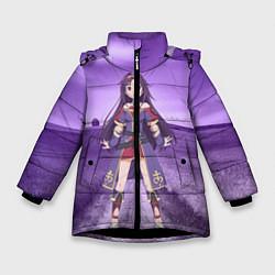 Куртка зимняя для девочки Юки Конно цвета 3D-черный — фото 1