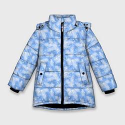 Куртка зимняя для девочки Новый Год цвета 3D-черный — фото 1