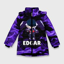 Куртка зимняя для девочки BRAWL STARS EDGAR цвета 3D-черный — фото 1