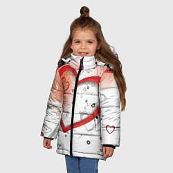 Куртка зимняя для девочки Клуб Романтики цвета 3D-черный — фото 2