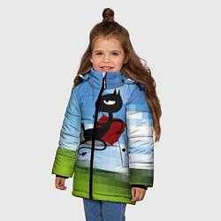 Куртка зимняя для девочки Люси на рабочем столе цвета 3D-черный — фото 2