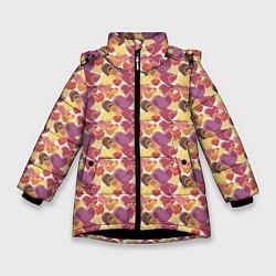 Куртка зимняя для девочки Любовь цвета 3D-черный — фото 1
