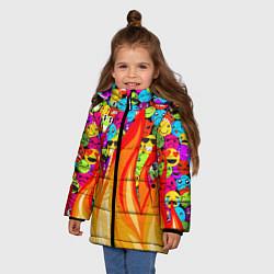 Куртка зимняя для девочки SLAVA MARLOW - Смайлики - фото 2