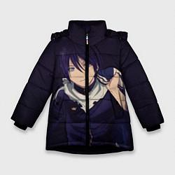 Куртка зимняя для девочки Ято Бездомный бог цвета 3D-черный — фото 1
