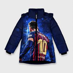 Куртка зимняя для девочки Leo Messi Лео Месси 10 цвета 3D-черный — фото 1