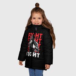 Куртка зимняя для девочки FIGHT цвета 3D-черный — фото 2