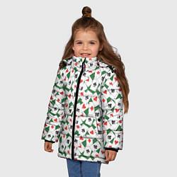 Куртка зимняя для девочки Тузы цвета 3D-черный — фото 2