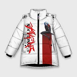 Куртка зимняя для девочки EVANGELION ПИЛОТ EVA цвета 3D-черный — фото 1