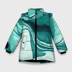 Куртка зимняя для девочки Красочный развод цвета 3D-черный — фото 1