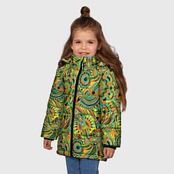 Куртка зимняя для девочки Узор цвета 3D-черный — фото 2