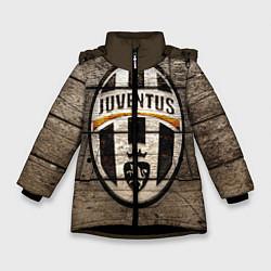 Куртка зимняя для девочки Juventus цвета 3D-черный — фото 1