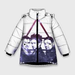 Детская зимняя куртка для девочки с принтом 30 seconds to mars, цвет: 3D-черный, артикул: 10063909106065 — фото 1