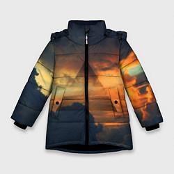 Куртка зимняя для девочки 30 seconds to mars цвета 3D-черный — фото 1
