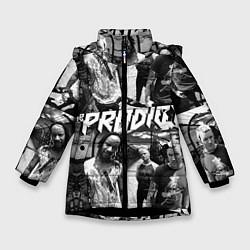 Куртка зимняя для девочки The Prodigy цвета 3D-черный — фото 1