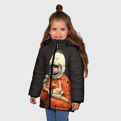 Куртка зимняя для девочки Гагарин с лайкой - фото 2