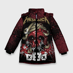 Куртка зимняя для девочки Metallica: XXX цвета 3D-черный — фото 1