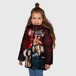 Куртка зимняя для девочки Bullet for my valentine цвета 3D-черный — фото 2
