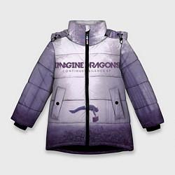 Куртка зимняя для девочки Imagine Dragons: Silence цвета 3D-черный — фото 1