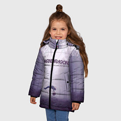 Куртка зимняя для девочки Imagine Dragons: Silence цвета 3D-черный — фото 2
