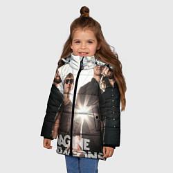 Детская зимняя куртка для девочки с принтом Imagine Dragons, цвет: 3D-черный, артикул: 10064384606065 — фото 2