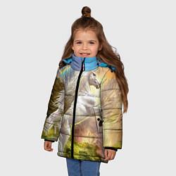 Куртка зимняя для девочки Радужный единорог цвета 3D-черный — фото 2