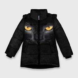 Куртка зимняя для девочки Черная кошка цвета 3D-черный — фото 1