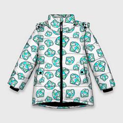 Куртка зимняя для девочки Бриллианты цвета 3D-черный — фото 1