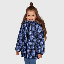 Куртка зимняя для девочки Черника цвета 3D-черный — фото 2