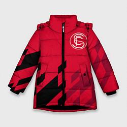 Детская зимняя куртка для девочки с принтом Sevilla FC, цвет: 3D-черный, артикул: 10065164606065 — фото 1