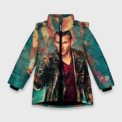 Детская зимняя куртка для девочки с принтом Доктор кто, цвет: 3D-черный, артикул: 10065374006065 — фото 1