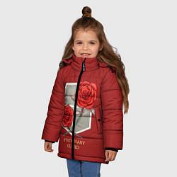 Куртка зимняя для девочки Стационарная гвардия цвета 3D-черный — фото 2