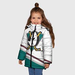 Куртка зимняя для девочки Anaheim Ducks Selanne цвета 3D-черный — фото 2