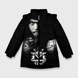 Куртка зимняя для девочки Менни Пакьяо цвета 3D-черный — фото 1